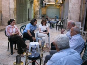 Tea and argyles with Albert and his buds in al-Quds