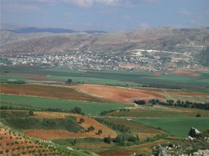 View on the drive to the Bekaa Valley