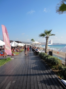 The boardwalk in Oceana leading to the other pools and restaurants