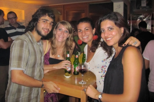 Fausto, Rianne, me and Leila at Dany's