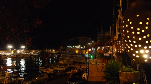 The view of the harbor from the restaurant Chez Pepe (Photo by Ozge)