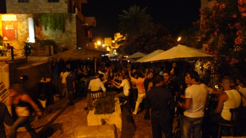 Dancing in the streets of Byblos (photo by Ozge)