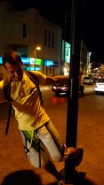 Pole dancing in the streets of Jbail ;)